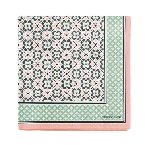 GreenGate Papier-Serviette Lamia Peach Large 20 Stk.
