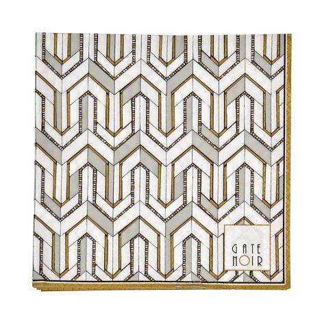 Gate Noir by GreenGate Papier-Serviette Large Madie White 20 Stk.