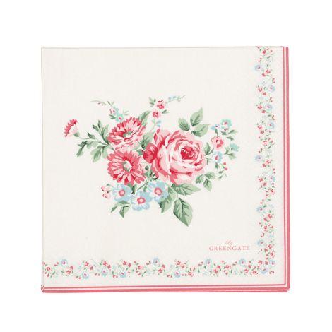 GreenGate Papierserviette Marley Pale Pink Large 20 Stk.