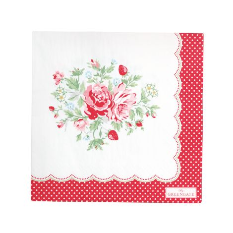 GreenGate Papierserviette Mary White Large 20 Stk.
