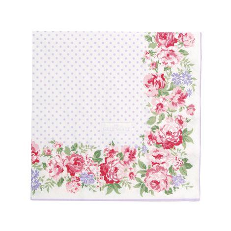 GreenGate Papierserviette Rose White Large 20 Stk.