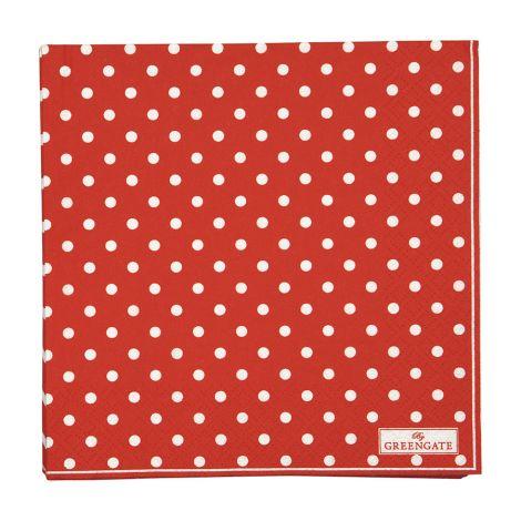 GreenGate Papierserviette Spot Red Large 20 Stk. •