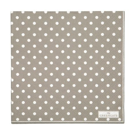 GreenGate Papierserviette Spot Grey Large 20 Stk. •