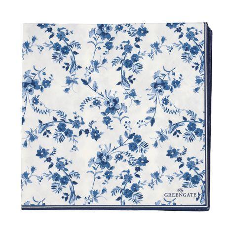GreenGate Papier-Serviette Groß Vanessa Blue 20 Stk. •