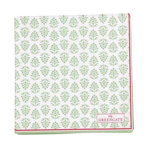 GreenGate Kleine Papier-Servietten Ashley Green 20 Stk.