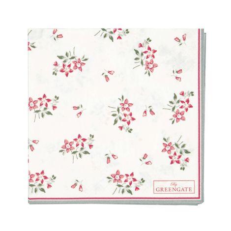 GreenGate Papierserviette Avery White Small 20 Stk.