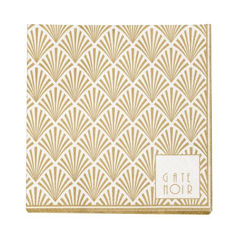Gate Noir by GreenGate Papier-Servietten Small Celine White 20 Stk. •
