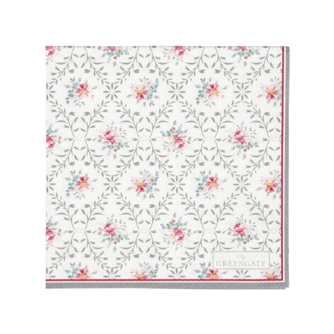 GreenGate Papierserviette Daisy Pale Grey 20 Stk.