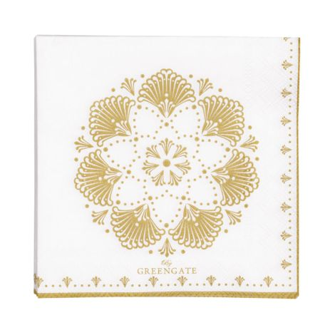 Gate Noir by GreenGate Papier-Serviette Elvina Gold Small 20 Stk.