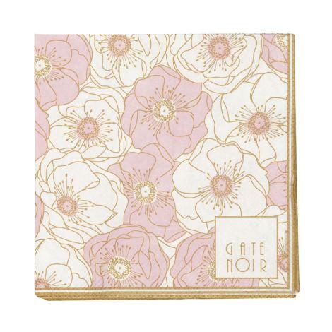 Gate Noir by GreenGate Papier-Servietten Small Flori Pale Pink 20 Stk. •