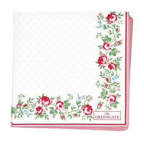 GreenGate Papierserviette Gabby White Small 20 Stk.