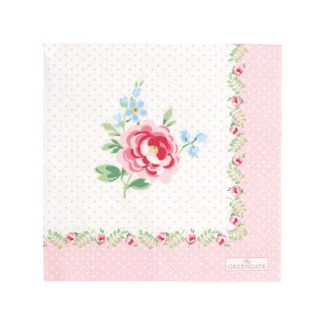 GreenGate Papierserviette Lily Petit White Small 20 Stk.