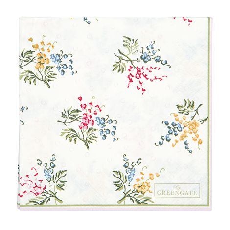 GreenGate Papierserviette Mira White Small 20 Stk.