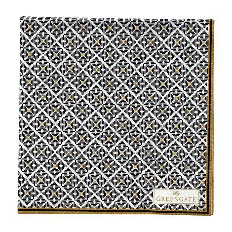 GreenGate Papierserviette Sandra Black Small 20 Stk. •