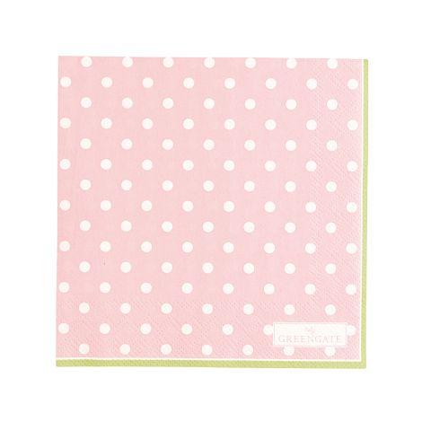 GreenGate Papierserviette Spot Pale Pink Small 20 Stk.
