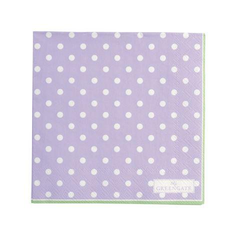 GreenGate Papierserviette Spot Lavendar Small 20 Stk.