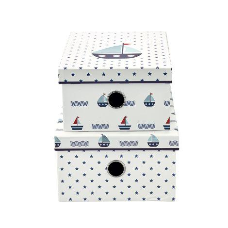 GreenGate Aufbewahrungsbox Noah White 2er-Set
