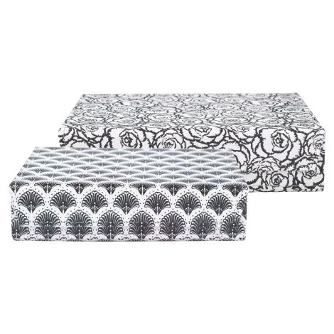 Gate Noir by GreenGate Aufbewahrungs Box Blossom Grey 2er Set
