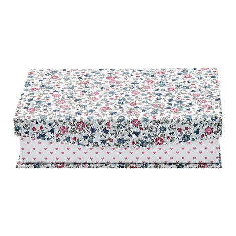 GreenGate Aufbewahrungsbox Ruby Petit White mit Trennfächern •