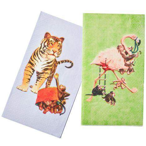Rice Papier-Servietten Flamingo/Tiger 20 Stück