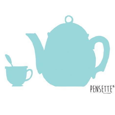 Pensette® by le Prédeau Wandtattoo Teekanne mintgrün, beschreibbar