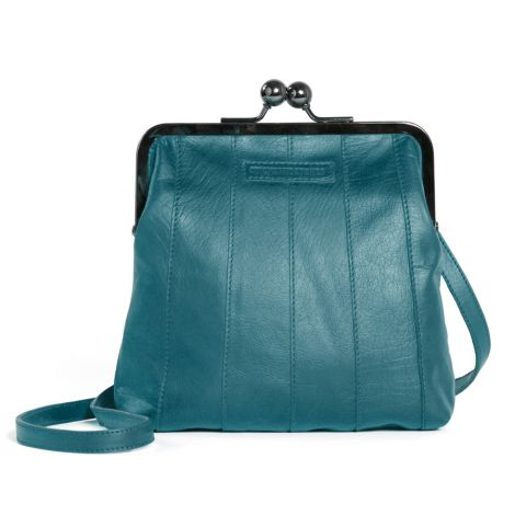Sticks and Stones Ledertasche Perugia Deep Teal Washed