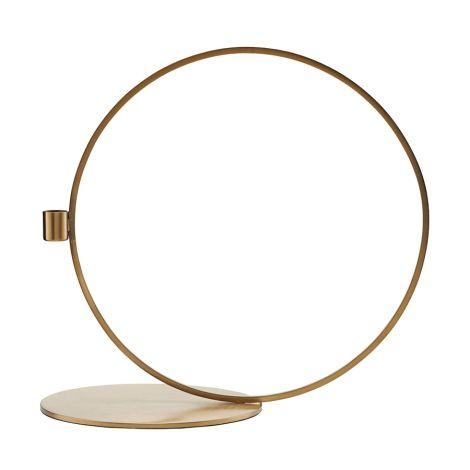 House Doctor Kerzenständer Cirque Brass Finish 33 cm •