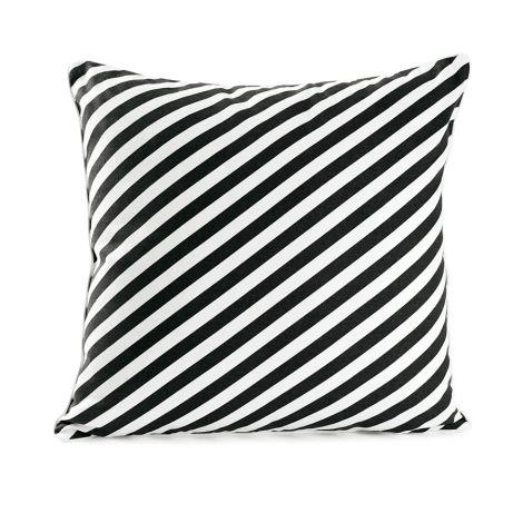 Miss Étoile Kissen Diagonal Stripes Black & White