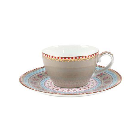 PIP Studio Espresso Tasse Ribbon Rose Khaki