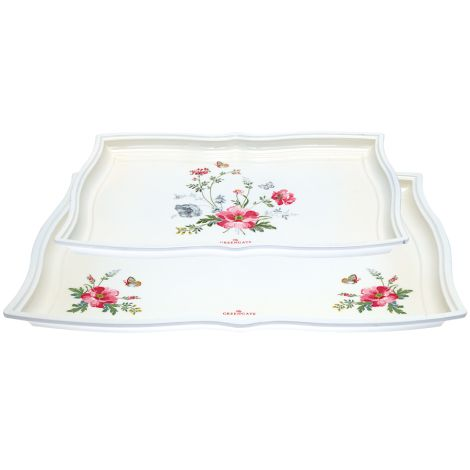 GreenGate Tablett Meadow White 2er-Set •