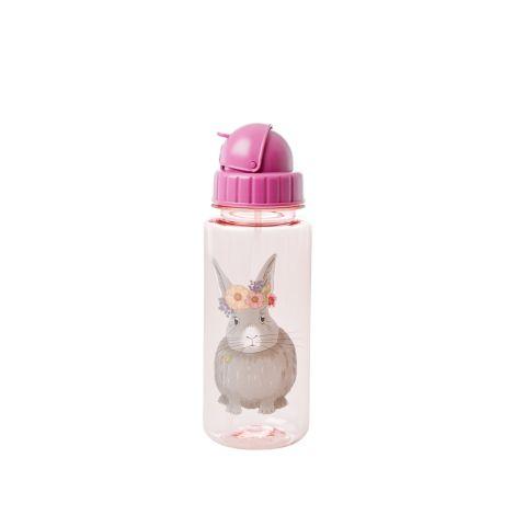 Rice Trinkflasche Kids Farm Animal Pink 500 ml