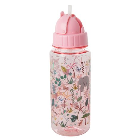 Rice Trinkflasche Jungle Animals Pink