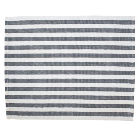 Krasilnikoff Platzset Stripes Charcoal •