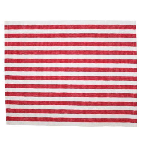 Krasilnikoff Platzset Stripes Red •