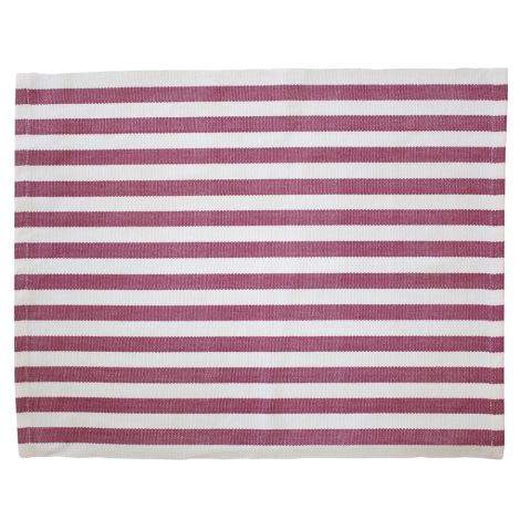 Krasilnikoff Platzset Stripes Plum •
