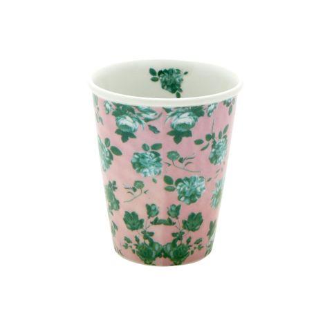 Rice Becher Porzellan Pink Green Rose