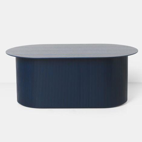 ferm LIVING Tisch Podia Oval Dark Blue