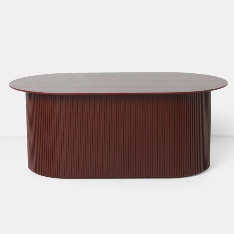 ferm LIVING Tisch Podia Oval Red Brown
