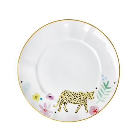 Rice Porzellan Speiseteller Wild Leopard