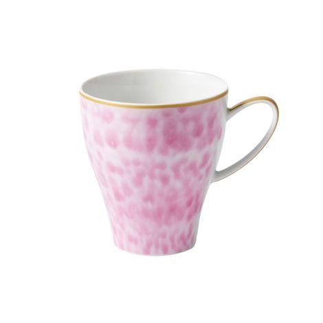 Rice Große Porzellan Tasse Glaze Bubblegum Pink 360 ml •
