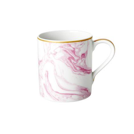 Rice Porzellan Tasse Marble Bubblegum Pink 350 ml •