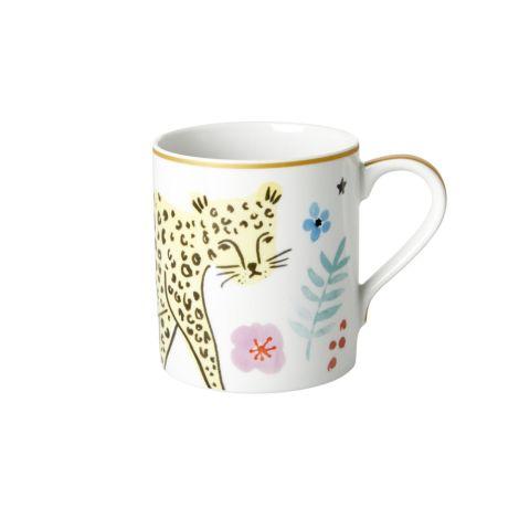 Rice Porzellan Tasse Wild Leopard 350 ml