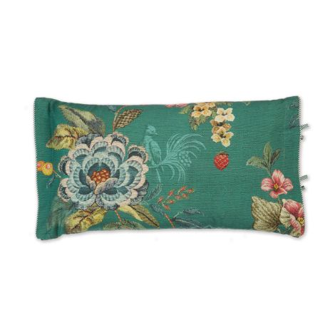 PIP Studio Zierkissen Poppy Stitch Green 35x60
