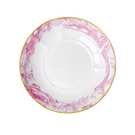 Rice Porzellan Pasta-Teller Marble Bubblegum Pink