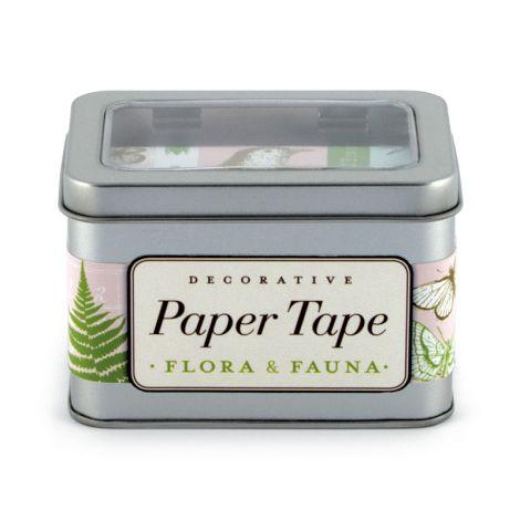 Cavallini Paper Tape Flora & Fauna •