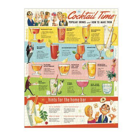 Cavallini Puzzle Cocktails 1000-teilig