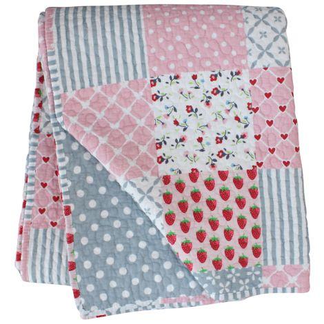 Krasilnikoff Quilt Patchwork Pink •