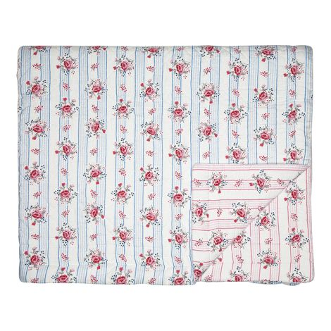 GreenGate Quilt Tagesdecke Fiona Pale Blue 100 x 140 cm