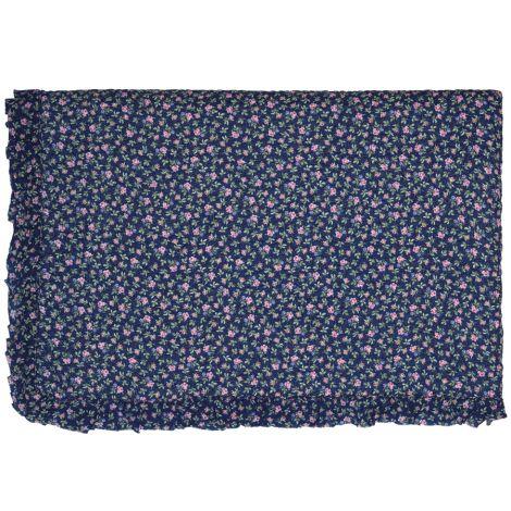 GreenGate Quilt Tagesdecke Berta Dark Blue mit Rüsche 140x220cm