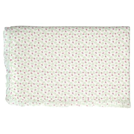 GreenGate Quilt Tagesdecke Lily Petit White mit Rüsche 100 x 140 cm